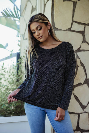 Load image into Gallery viewer, Sparkle Open Back Dolman Top