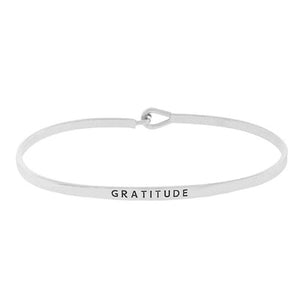 Load image into Gallery viewer, GRATITUDE Inspirational Message Bracelet - Jaffi's