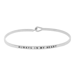 ALWAYS IN MY HEART Inspirational Message Bracelet - Jaffi's