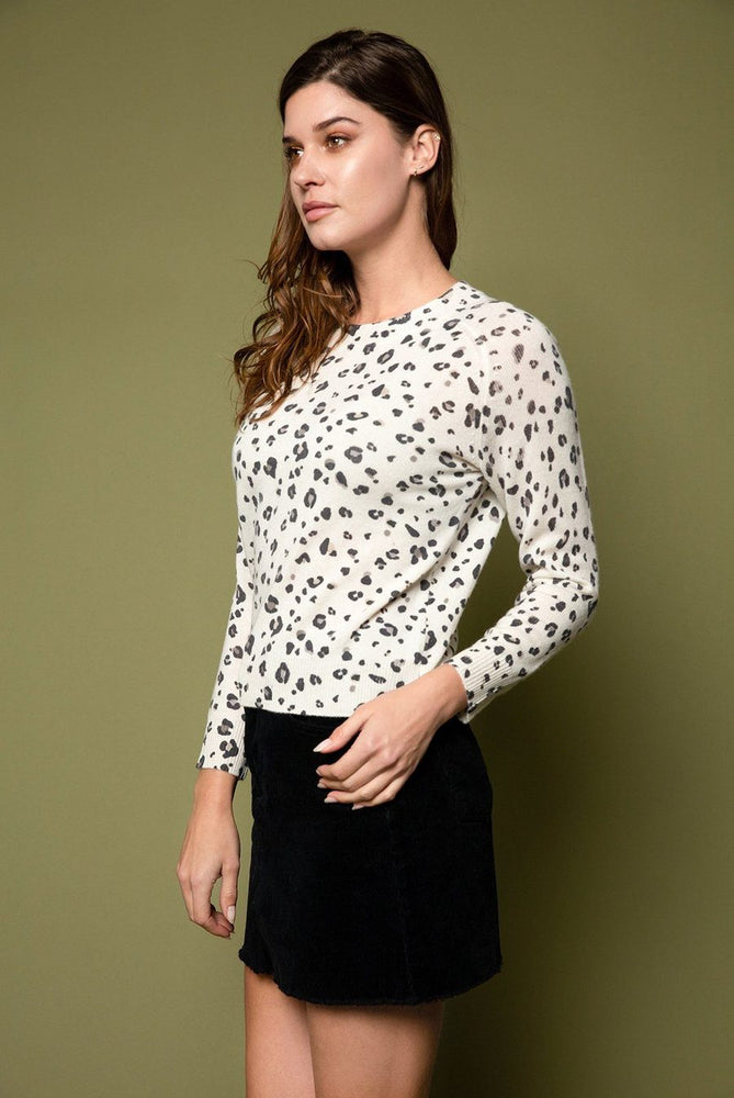 Load image into Gallery viewer, Helene Leopard Print Cashmere Sweater