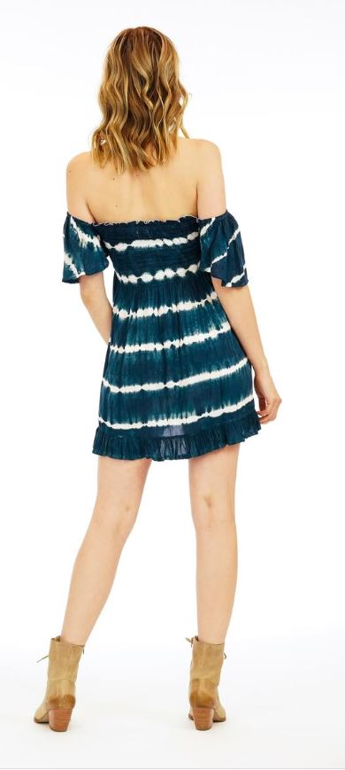 Load image into Gallery viewer, Hendrix Mini Dress - Midnight Stripe TD
