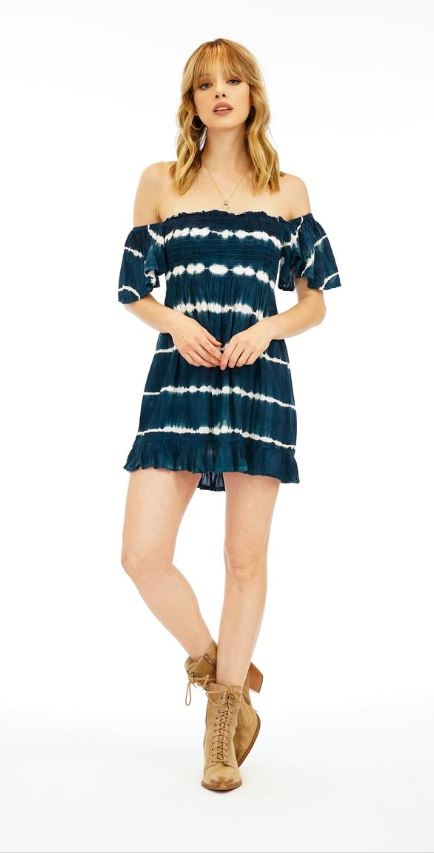 Hendrix Mini Dress - Midnight Stripe TD