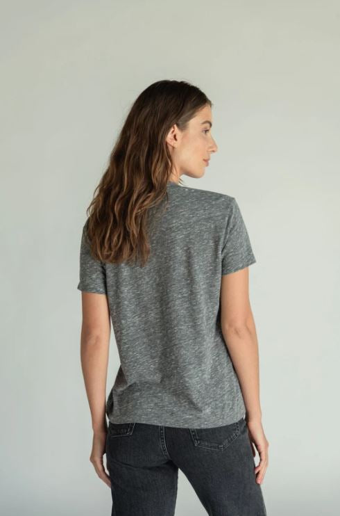Load image into Gallery viewer, Hendrix V Neck Tee - Heather Grey