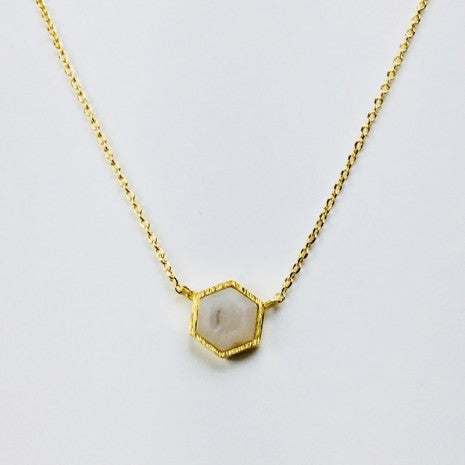 Hex Stone Necklace - Jaffi's