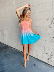 The Hollie Short Dress - Popsicle