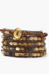 The Iolite Mix Wrap Bracelet