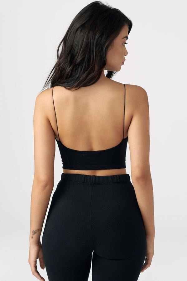 Open Back Cami Crop Top