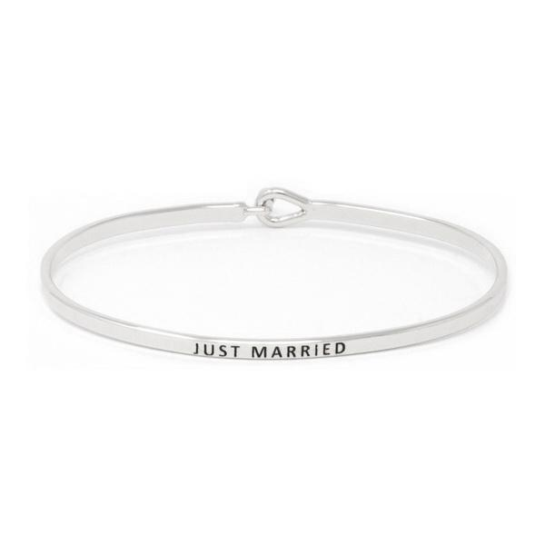 JUST MARRIED Inspirational Message Bracelet - Jaffi's