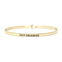KEEP DREAMING Inspirational Message Bracelet - Jaffi's