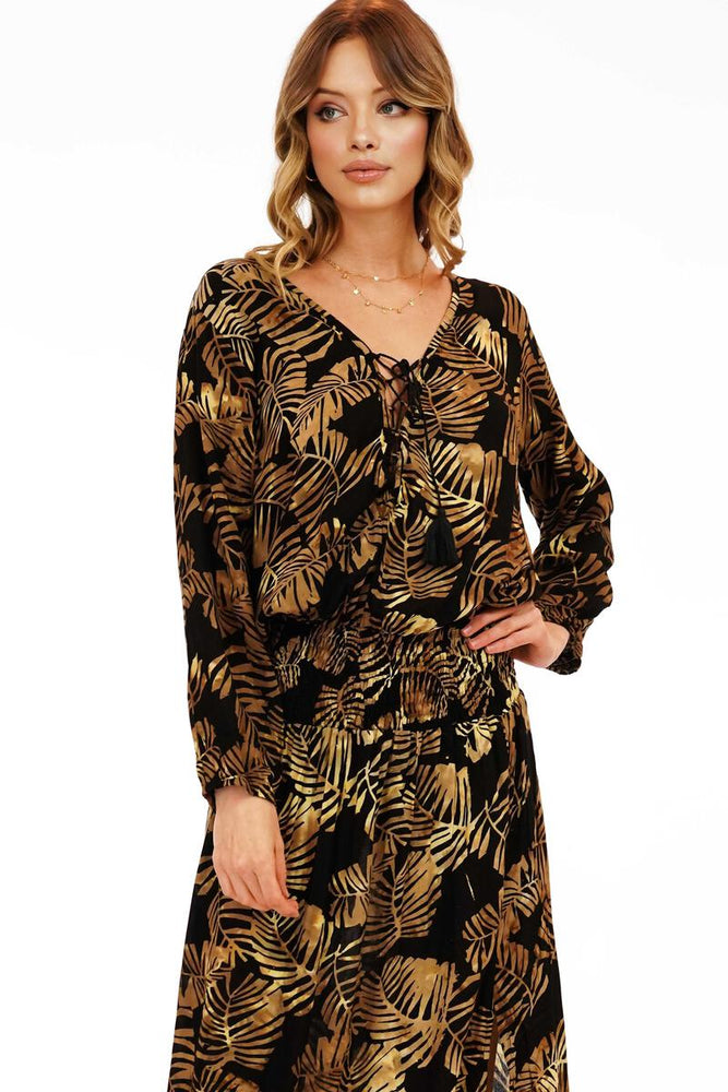 Load image into Gallery viewer, Kalani Maxi Dress - Batik Palms