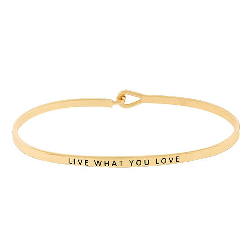 LIVE WHAT YOU LOVE Inspirational Message Bracelet - Jaffi's