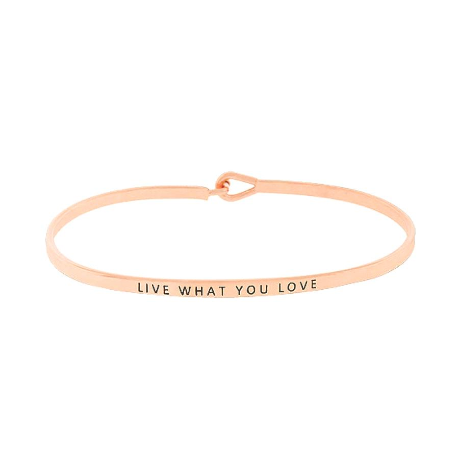 Load image into Gallery viewer, LIVE WHAT YOU LOVE Inspirational Message Bracelet - Jaffi's