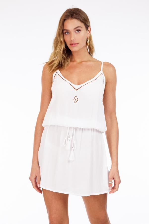 Lana Eyelet Mini Dress - White