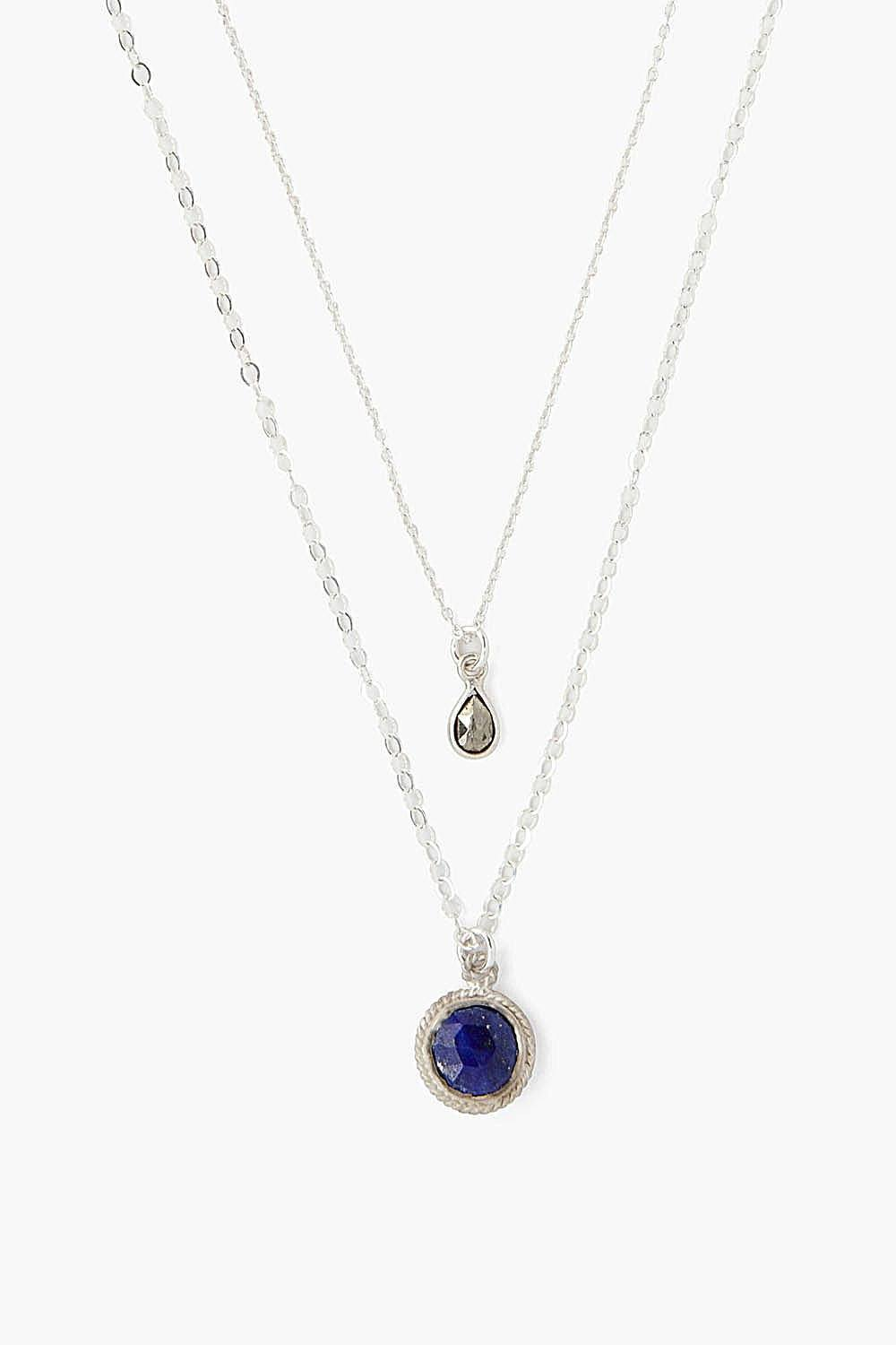 Lapis Mix Pendant Layered Necklace - Jaffi's