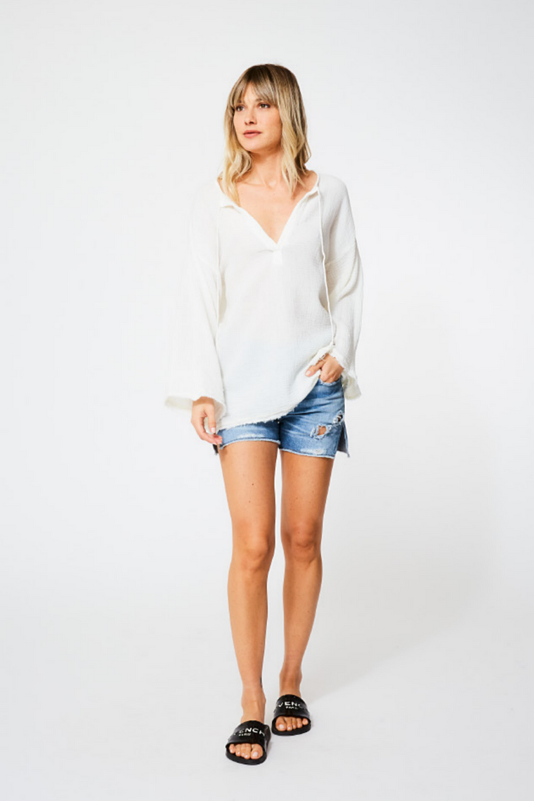 Lennox Beach Tunic - White Gauze