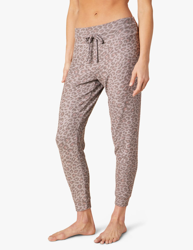 Leopard Lounge Around Jogger - Alternate Front View