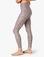 Spacedye Printed Midi Legging - Chai Cocoa Brown Leopard - Side View