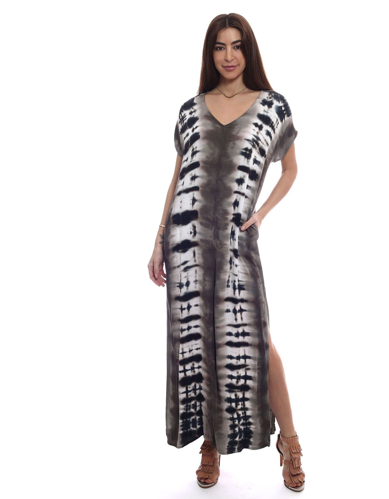 Load image into Gallery viewer, Let's Get Away Dress - Print Maxi Dress - Alternate Front View