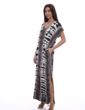 Load image into Gallery viewer, Let's Get Away Dress - Print Maxi Dress - Alternate Side View