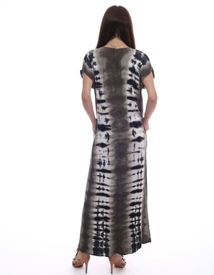 Load image into Gallery viewer, Let's Get Away Dress - Print Maxi Dress - Back View