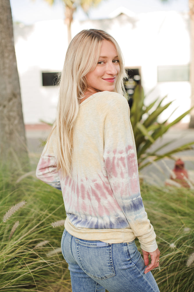 Load image into Gallery viewer, LIFE IS BEAUTIFUL - Tie Dye Chelsea Pullover