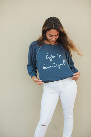 Load image into Gallery viewer, LIFE IS BEAUTIFUL - Emerson Pullover