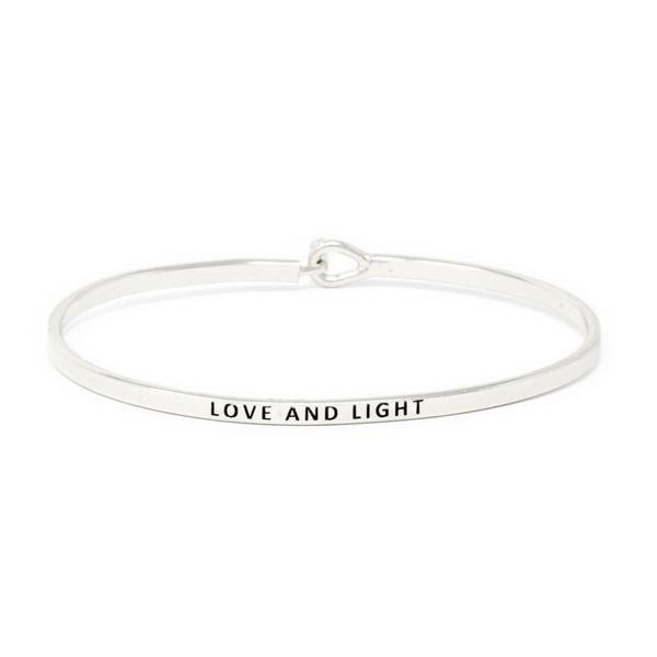 Load image into Gallery viewer, LOVE AND LIGHT Inspirational Message Bracelet - Jaffi's