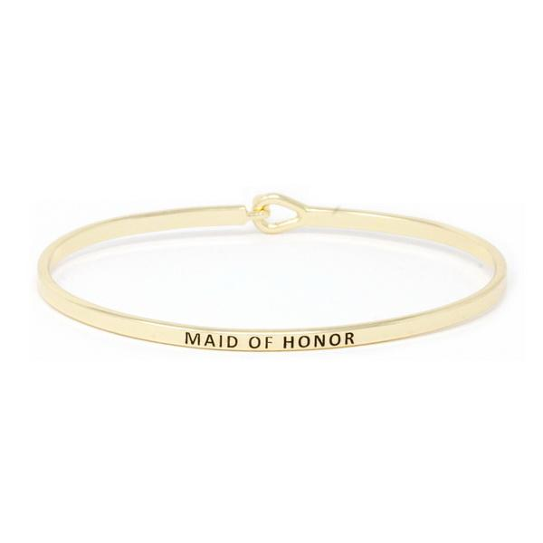 MAID OF HONOR Inspirational Message Bracelet - Jaffi's