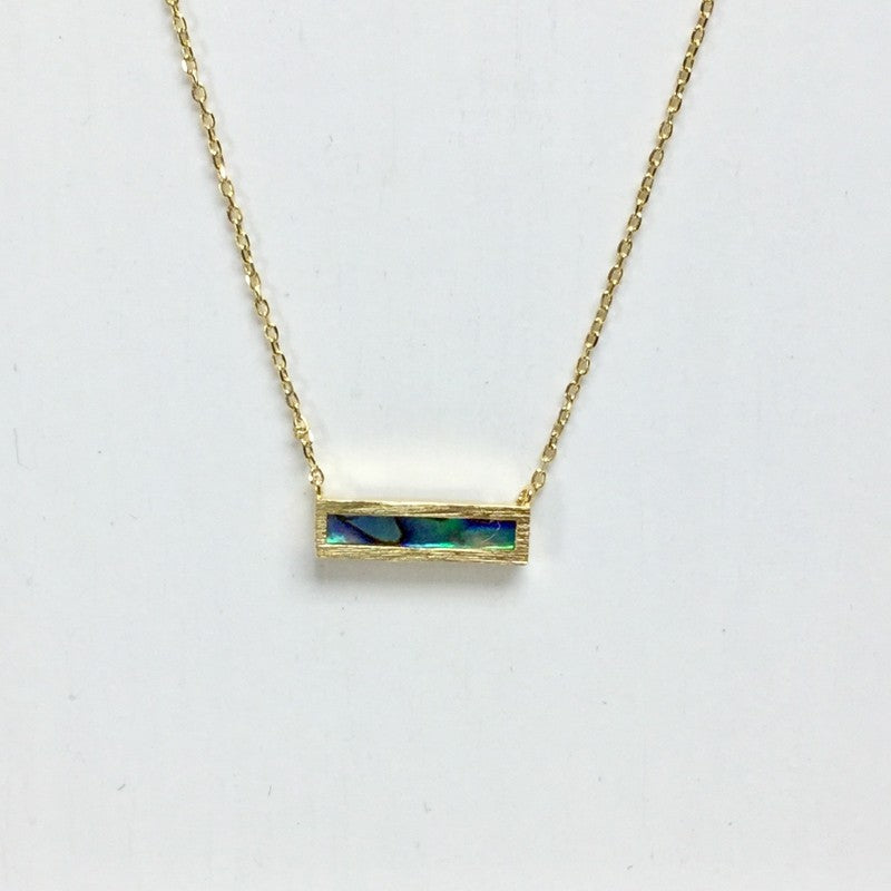 Mother of Pearl Bar Necklace - Jaffi's