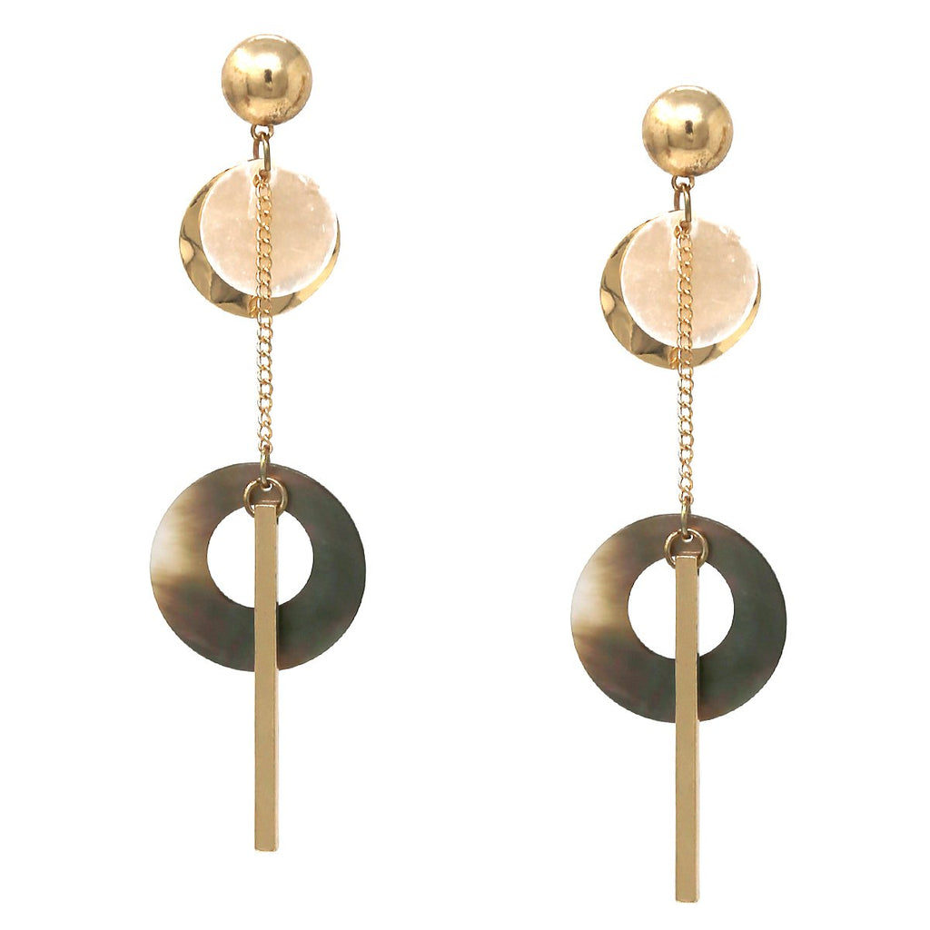 Mother of Pearl Dangle Earring - Jaffi's