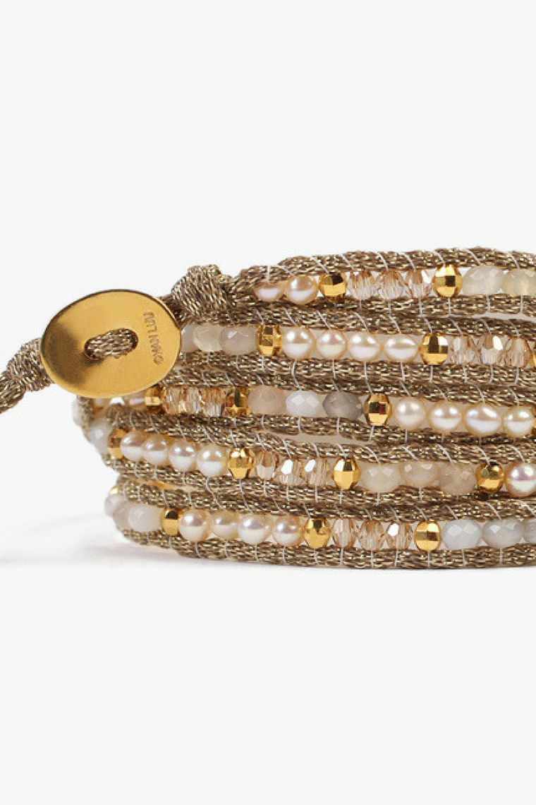 The White Mix Mokuba Wrap Bracelet