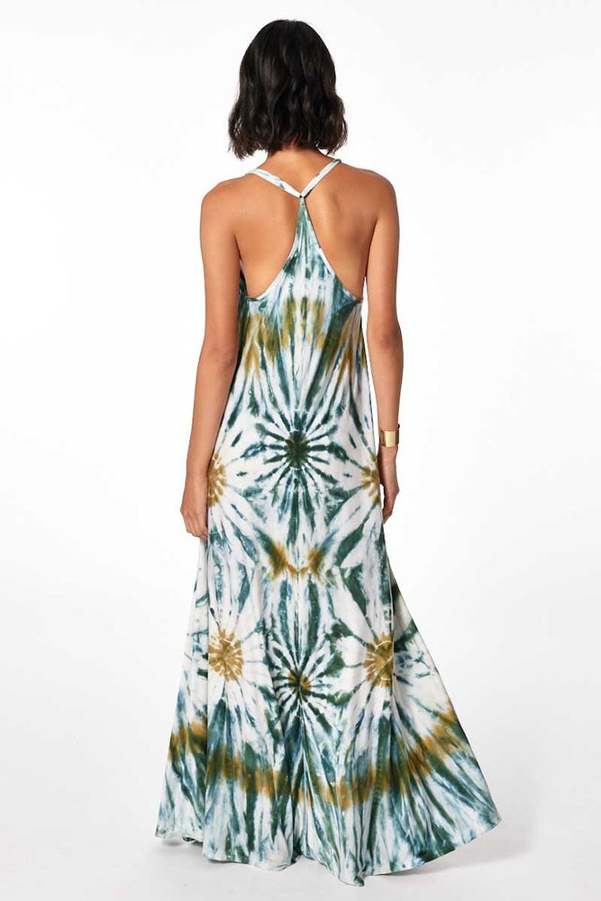 Load image into Gallery viewer, Mekenna Maxi Dress - Winter Leaf Venus Wash - Back View