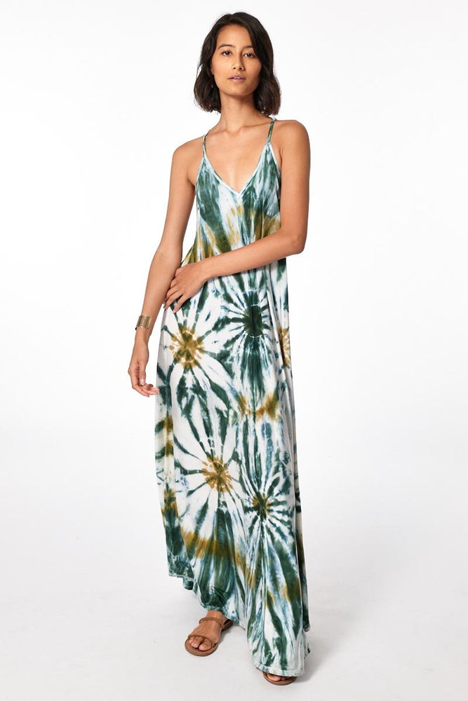 Load image into Gallery viewer, Mekenna Maxi Dress - Winter Leaf Venus Wash - Alternate Front View