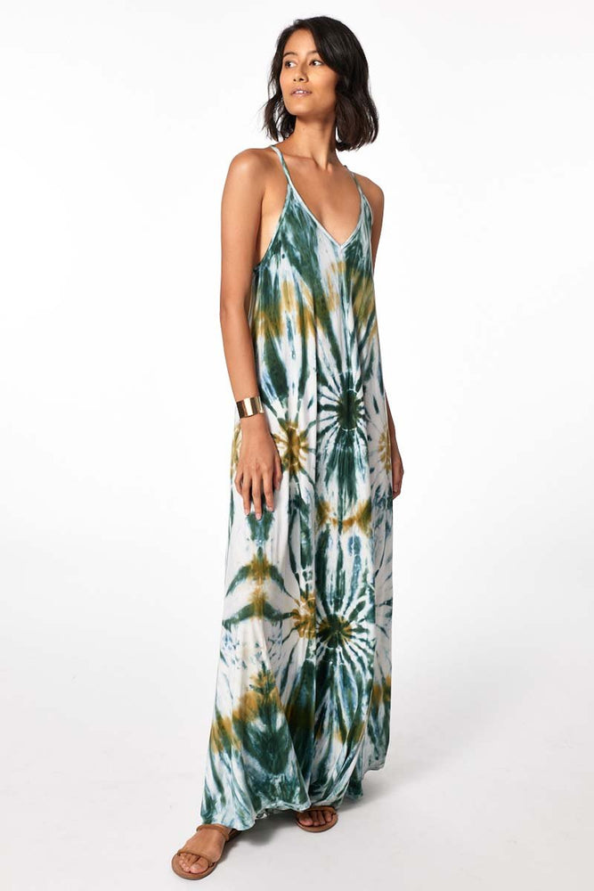 Load image into Gallery viewer, Mekenna Maxi Dress - Winter Leaf Venus Wash - Another Alternate Front View