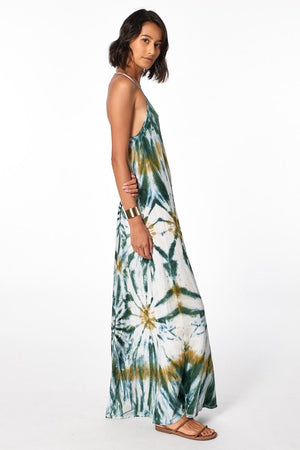 Load image into Gallery viewer, Mekenna Maxi Dress - Winter Leaf Venus Wash - Side View