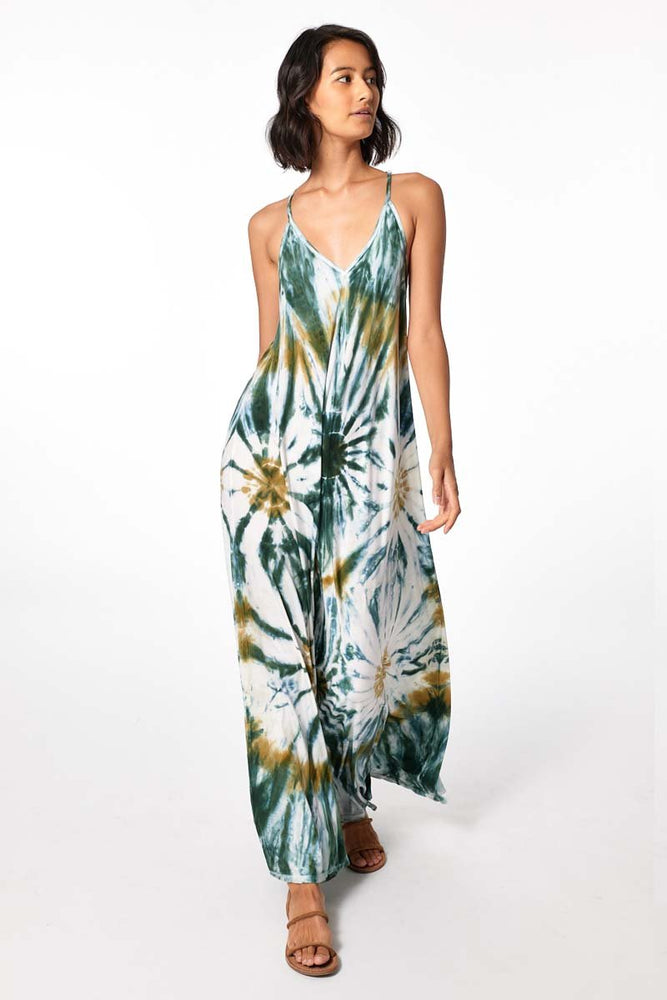 Load image into Gallery viewer, Mekenna Maxi Dress - Winter Leaf Venus Wash - Front View