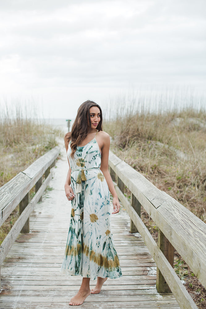 Mekenna Maxi Dress - Winter Leaf Venus Wash - Natural Light Front View