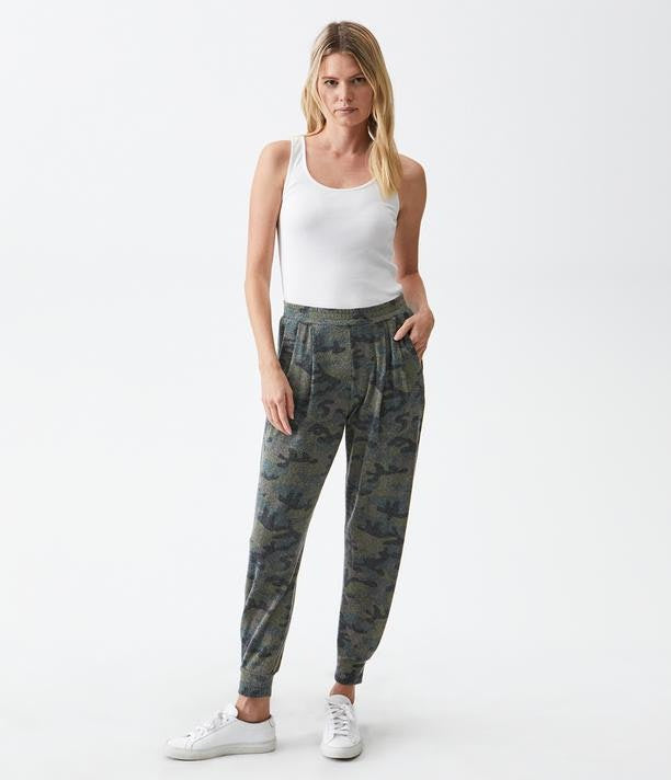 Madison Brushed Jersey Myla Pleated Relaxed Jogger