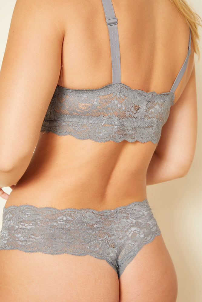 Load image into Gallery viewer, Comfy Cutie Thong - Platinum grey - Jaffi's
