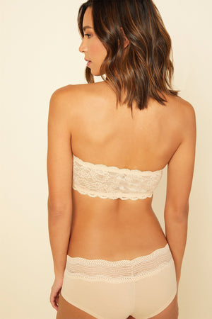 Load image into Gallery viewer, Flirtie Bandeau Bra - Blush - Jaffi's