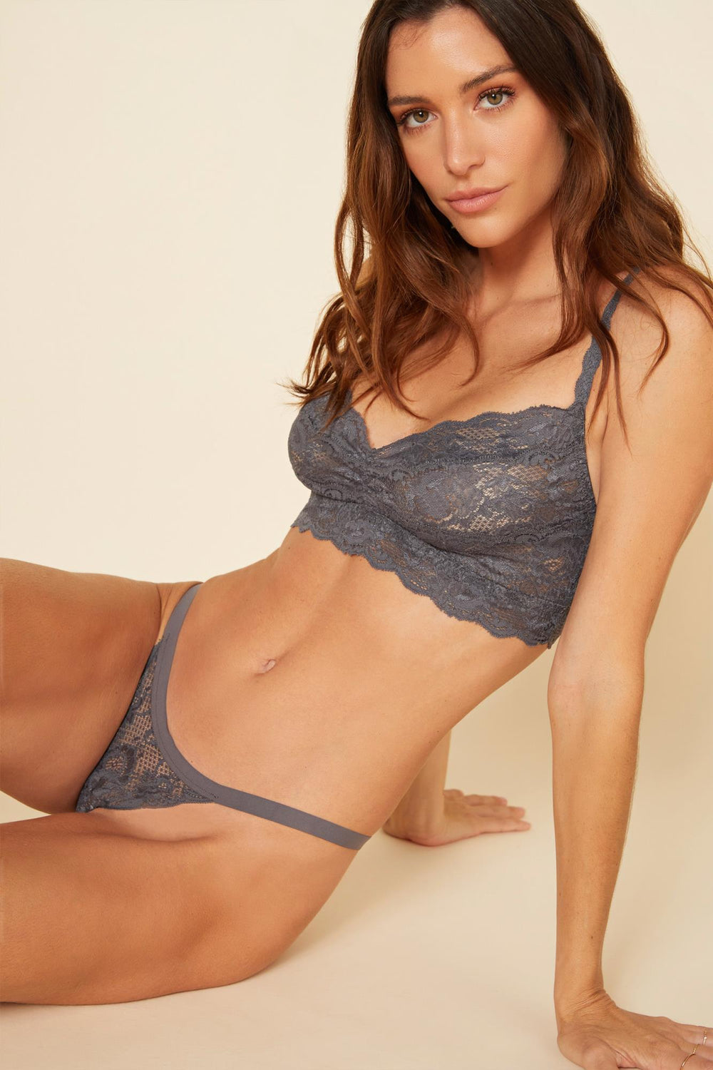 Never Say Never Sweetie Bralette - Anthracite Grey
