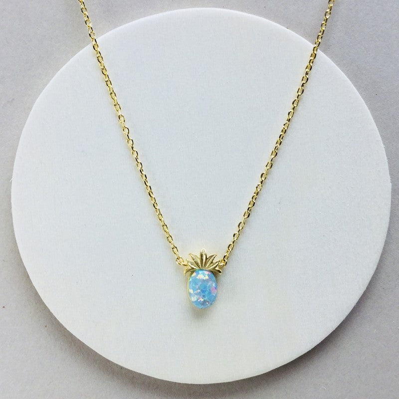 Load image into Gallery viewer, Opal Pineapple Necklace