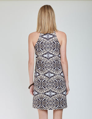 Load image into Gallery viewer, Pablo Printed Tank Dress - Back View