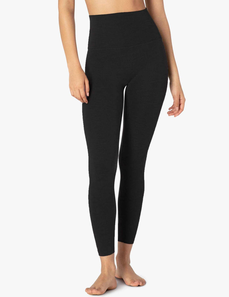 Rib High Waist Midi Legging