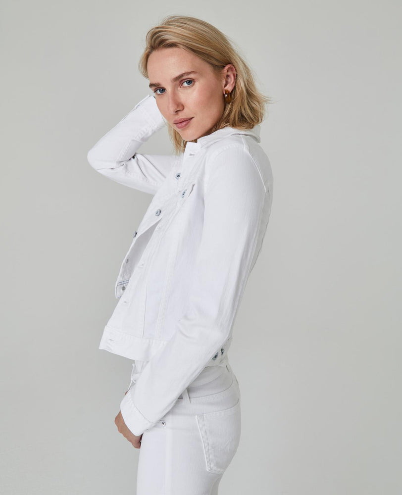 Load image into Gallery viewer, Robyn Denim Jacket - True White - Side View