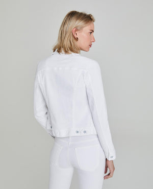 Load image into Gallery viewer, Robyn Denim Jacket - True White - Back View