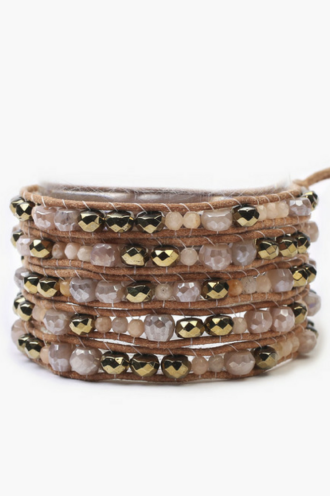 Load image into Gallery viewer, The Sunstone Mix Wrap Bracelet
