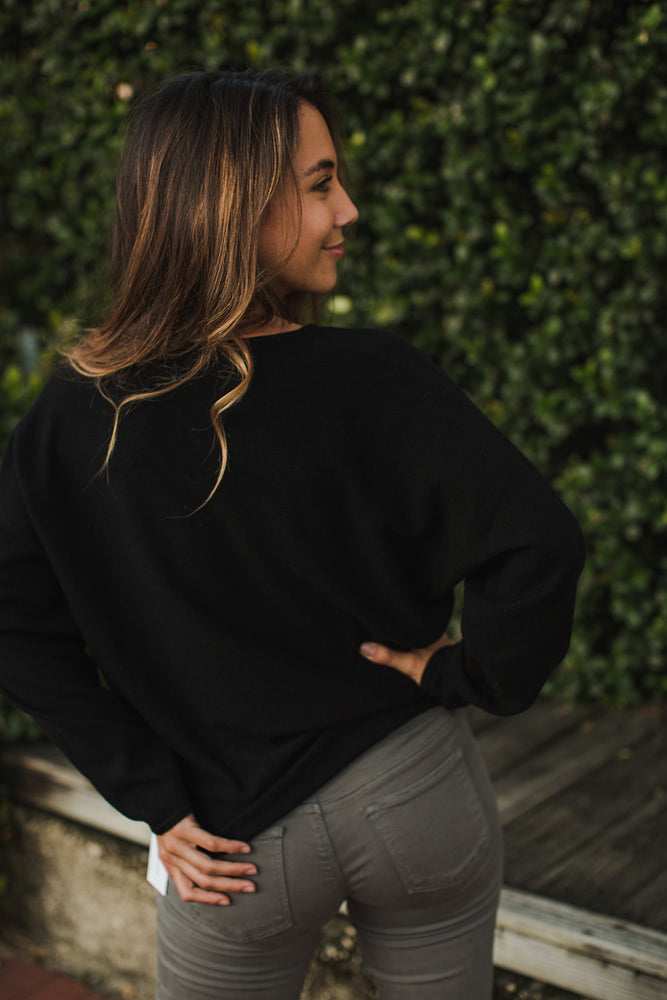 Load image into Gallery viewer, V Neck Dolman Sweater