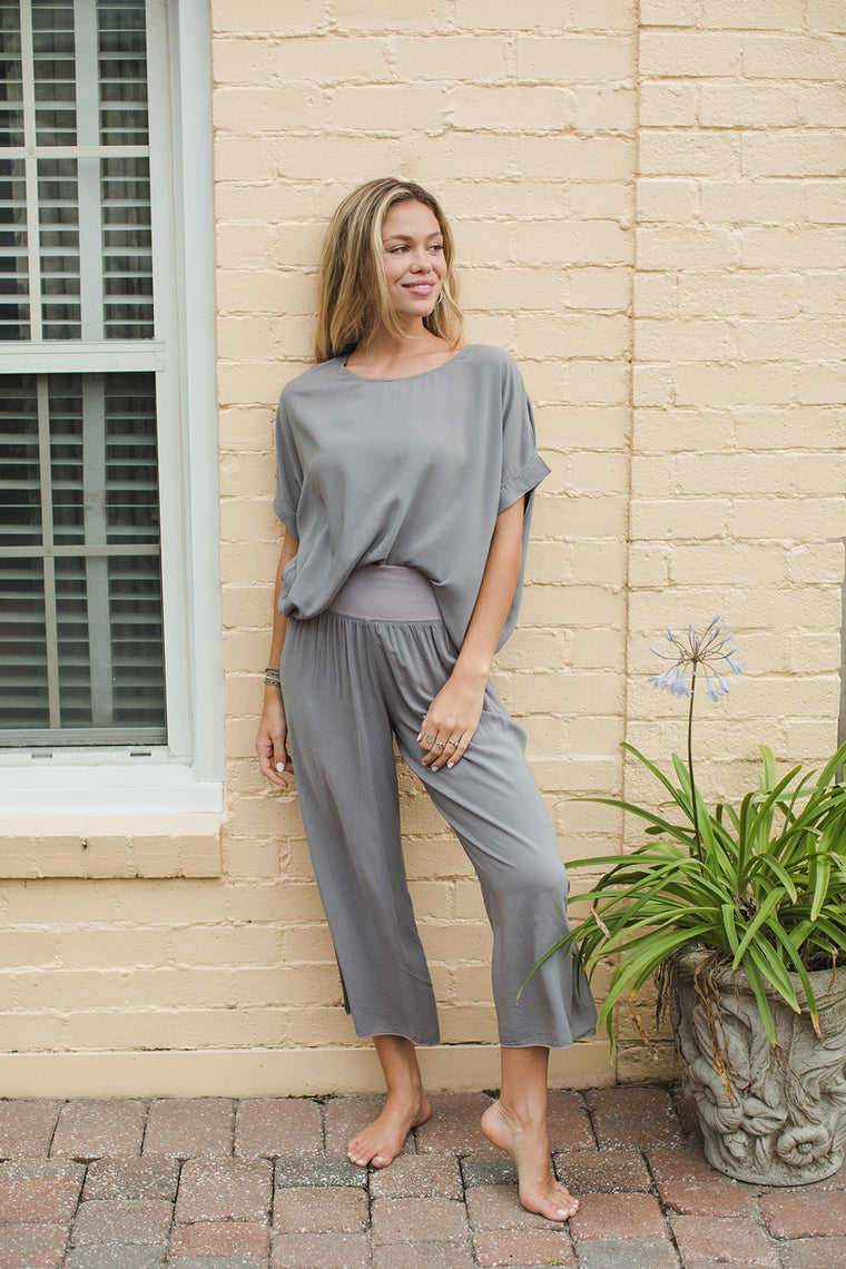 Rayon Voile Scoop Boxy Tee