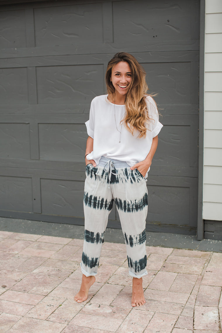 Cropped Voile Pant - Jaffi's